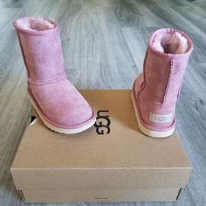 UGG Toddler Classic Short II Suede Boot.